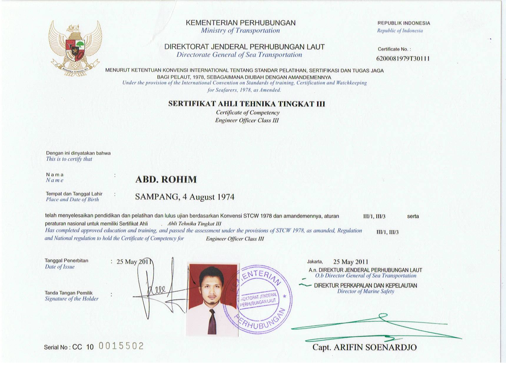 Certificate abd rohim certificate of competency download file xflitez Gallery
